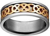 Celtic Yellow Ion-Plated Titanium & Titanium Knot Spinner Band