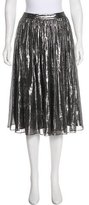 Alice + Olivia Metallic Knee-Length Skirt