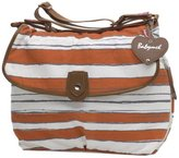 Babymel Satchel Stripe Diaper Bag (Sunset Orange)