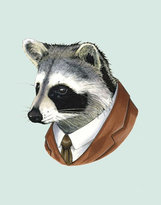 Berkley Illustration Raccoon Portrait Print