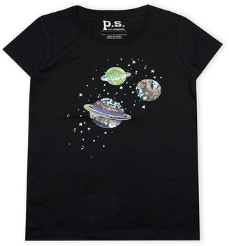Aeropostale p.s. from Girls' Tee Shirts BLACK - Black Planet Tee - Girls