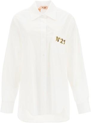 N°21 N.21 Poplin Shirt With Net Inserts