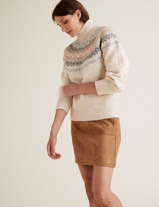 Marks and Spencer Suedette Mini A-Line Skirt