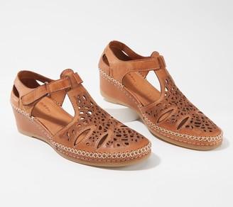 Spring Step Leather Adjustable Ankle Strap Sandals - Irin