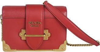 Prada Metallic Studded Shoulder Bag