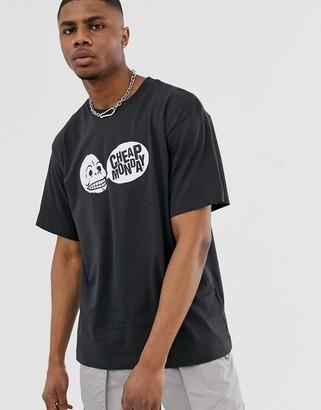 Cheap Monday speech logo t-shirt-Black