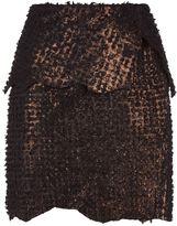 Balmain Suede Mini Skirt