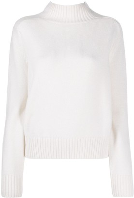 Allude High Neck Knitted Jumper