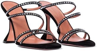 Amina Muaddi Naima embellished suede sandals