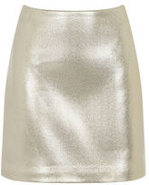 """Oasis FAUX LEATHER SHIMMER SKIRT [span class=""""variation_color_heading""""]- Gold[/span]"""
