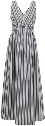 Brunello Cucinelli Flared Stripe Dress