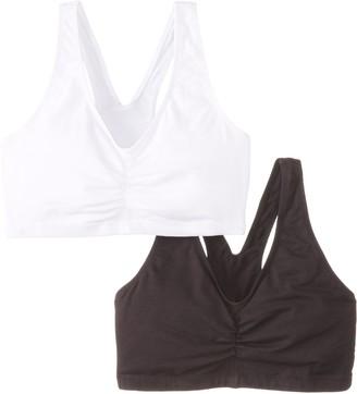 Hanes Women's ComfortBlend ComfortFlex Fit Pullover Bra 2-Pack