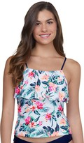 So Mix And Match Flounce Tankini with Square Neckline