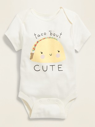 """Old Navy Unisex """"Taco 'Bout Cute"""" Graphic Bodysuit for Baby"""