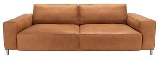 Safavieh Couture Genuine Leather 98'' Wide Square Arm Sofa