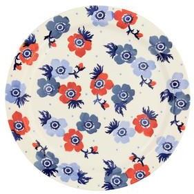Emma Bridgewater 33.5 Cms Anemone Round Serving Plate - Blue/Red/White