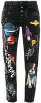 Dolce & Gabbana boyfriend planets printed jeans