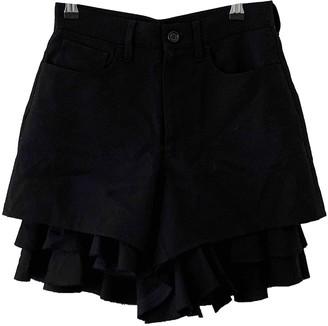 Junya Watanabe Black Wool Shorts