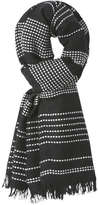 Joe Fresh Women's Stripe Knit Scarf, Black (Size O/S)