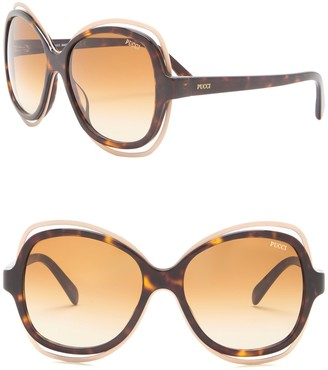 Emilio Pucci 57mm Oversized Sunglasses