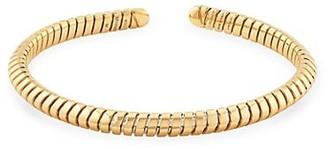 MARINA B Trisolina 18K Yellow Gold Tubogas Bangle Bracelet