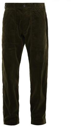 Comme des Garcons Relaxed Cotton-corduroy Trousers - Mens - Khaki