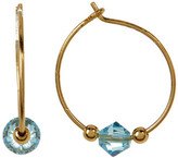 Candela 14K Gold Plated Sterling Silver Hoop Earrings with Beads