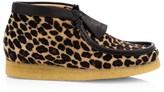 Clarks Leopard-Print Calf Hair Wallabee Boots