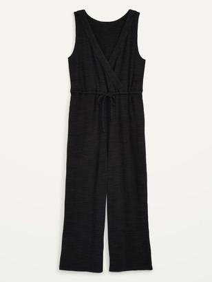Old Navy Maternity Sleeveless Plush-Knit Nursing Jumpsuit