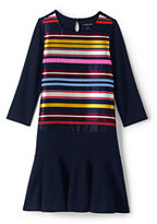 Classic Little Girls Embellished Academy Dress-Radiant Navy
