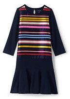 Lands' End Little Girls Embellished Academy Dress-Burgundy