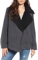 BP Women's Oversized Faux Shearling Lined Moto Jacket
