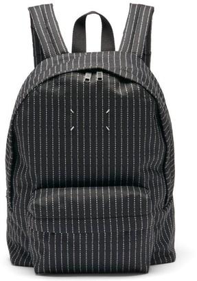 Maison Margiela Logo-jacquard Canvas Backpack - Black
