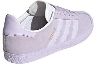 Adidas Originals Kids Gazelle (Big Kid) (Purple Tint/Gold Metallic) Girls Shoes