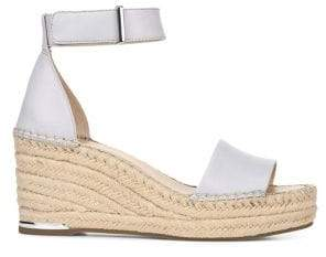 Franco Sarto Core Clemens Leather Wedge Espadrilles