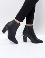 Missguided Gold Trim Block Heeled Boot