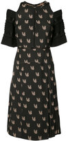 Yigal Azrouel parakeet jacquard dress - women - Acetate/Viscose - 6