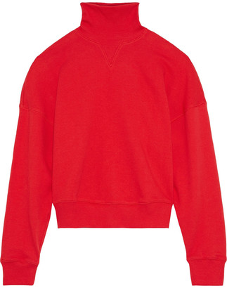 GOEN.J French Cotton-terry Turtleneck Sweatshirt