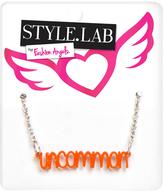 Fashion Angels Orange & Silvertone 'Uncommon' Pendant Necklace