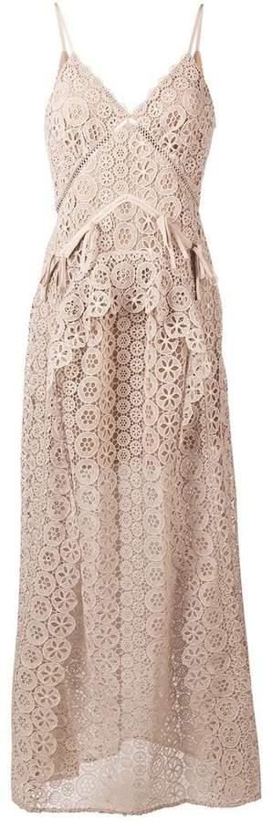 Self-Portrait floral lace maxi dress