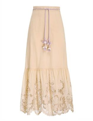 Zimmermann Brighton Scallop Frill Skirt