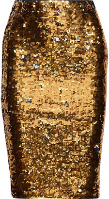 Mes Demoiselles Rita Sequined Stretch-knit Pencil Skirt