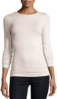 Majestic Paris for Neiman Marcus Soft Touch Long-Sleeve Crewneck Tee