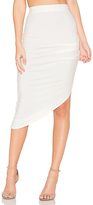 Twenty Ruched Midi Skirt in Ivory. - size XS (also in )