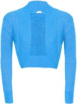 Forever Womens Plain Lurex Front Open Bolero Knitted Cropped Top Shrug