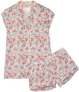 Three J NYC Olivia Floral-print Cotton-poplin Pajama Set - Red