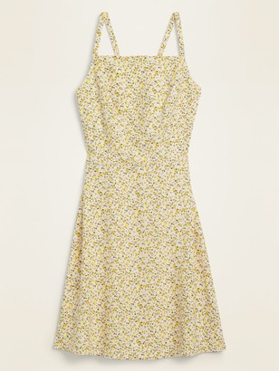 Old Navy Ditsy Floral Linen-Blend Fit & Flare Cami Sundress for Women