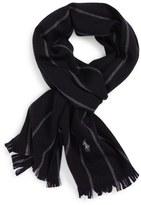 Polo Ralph Lauren Banker Stripe Wool Blend Scarf