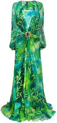 Versace Jungle floor-length dress