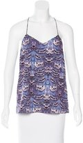 Tibi Abstract Print Sleeveless Top